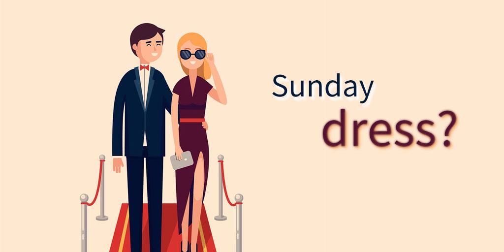 带你走进老外的周末,看看他们的Sunday dress是什么