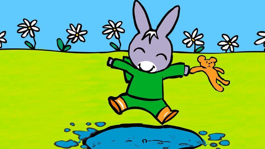 初级法语动画:可爱的小驴托托有了新书包~